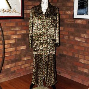 VICTORIA'S SECRET Geometric Satin Pajamas Set - S